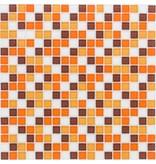 Glasmosaik orange-braun, glänzend - 30x30cm