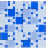 Glasmosaik blaumix, glänzend - 30x30cm