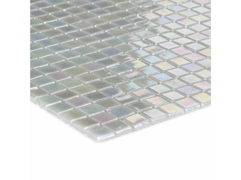 Glasmosaik Mini Light Grey, glänzend - 30x30cm