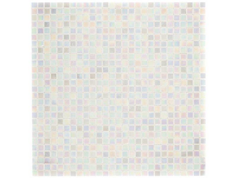 Glasmosaik Mini White, glänzend - 30x30cm