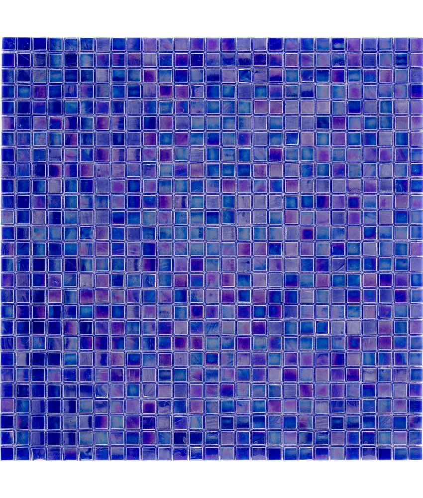 Glasmosaik Mini Violett Blue, glänzend - 30x30cm