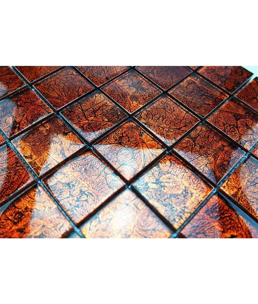 GLASMOSAIK FLIESEN - orange metallic - GM4840