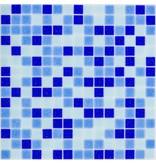 Glasmosaik Blau Mix dark - 33x33cm