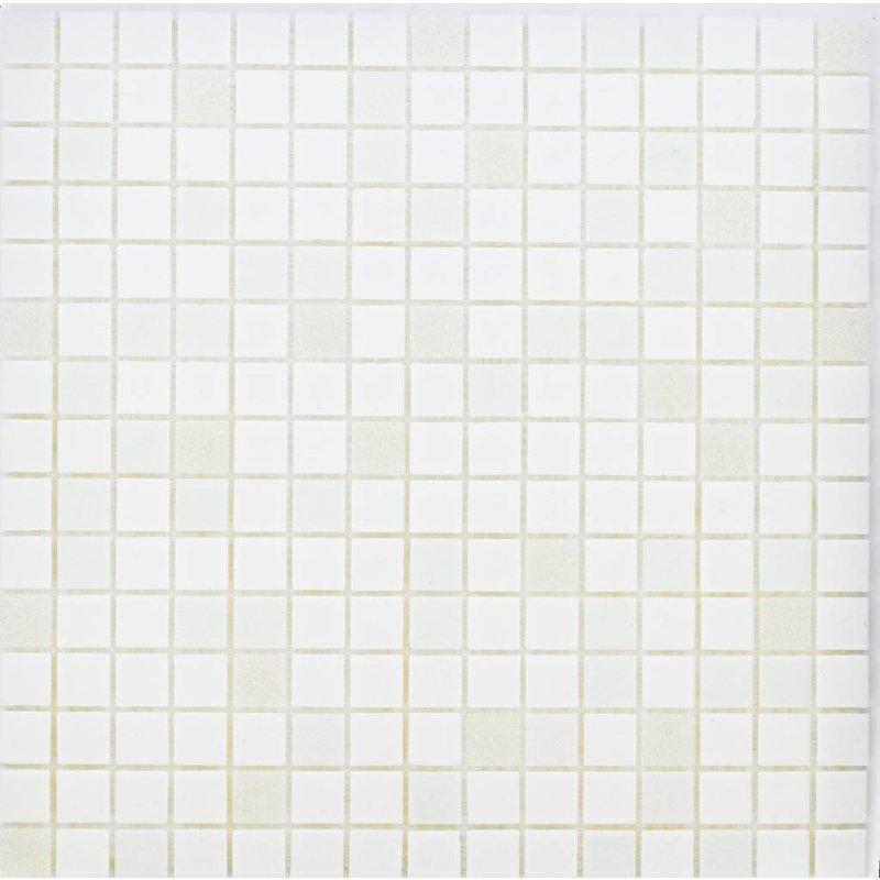 Glasmosaik White Mix - 33x33cm