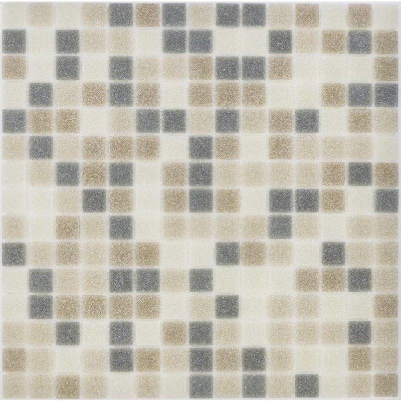 Glasmosaik grey-brown-beige Mix - 33cm x 33cm