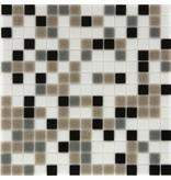 Glasmosaik black-grey-brown-white Mix - 33cm x 33cm