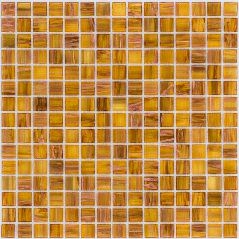 Glasmosaik Kupfer Hellbraun - 33cm x 33cm