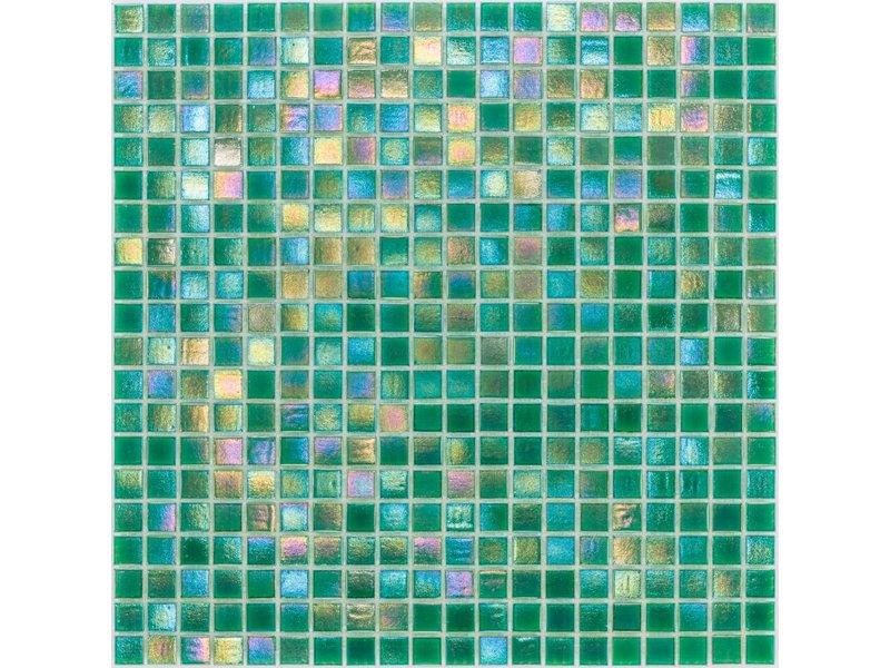 Glasmosaik Perlmutt Grün - 33cm x 33cm