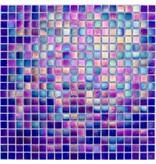 Glasmosaik Perlmutt Dunkelblau - 33cm x 33cm
