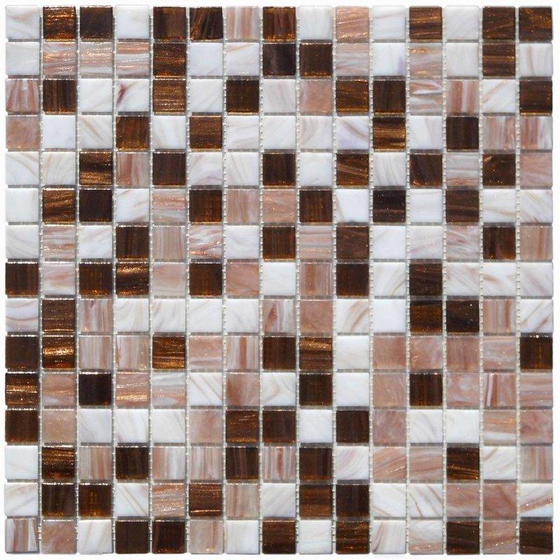 Glasmosaik Perlmutt Kupfer Beige - 33cm x 33cm
