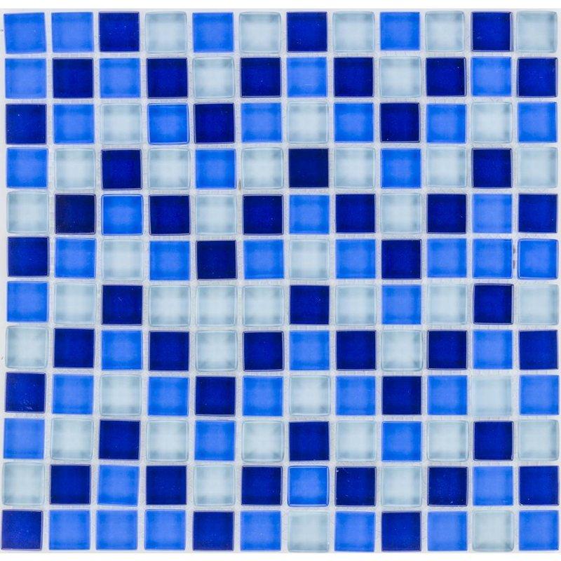 Glasmosaik Blau Mix, glänzend - 30cm x 30cm