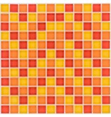 Glasmosaik rot orange gelb, glänzend - 30cm x 30cm