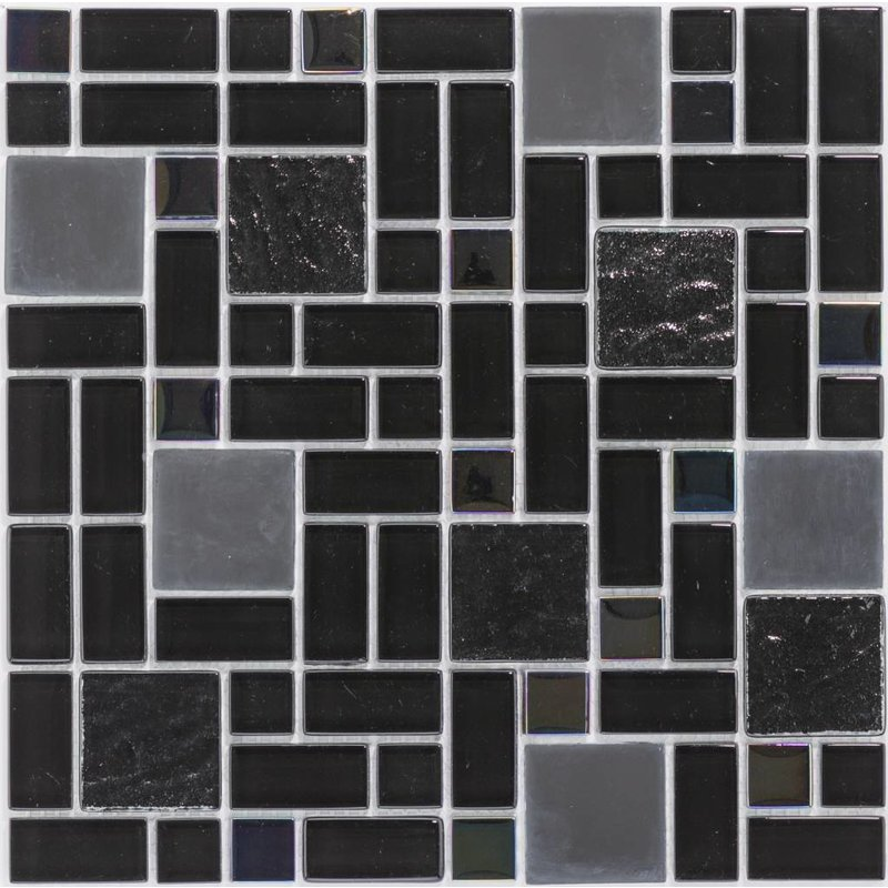Glasmosaik Black Rainbow Multiformat - 30cm x 30cm