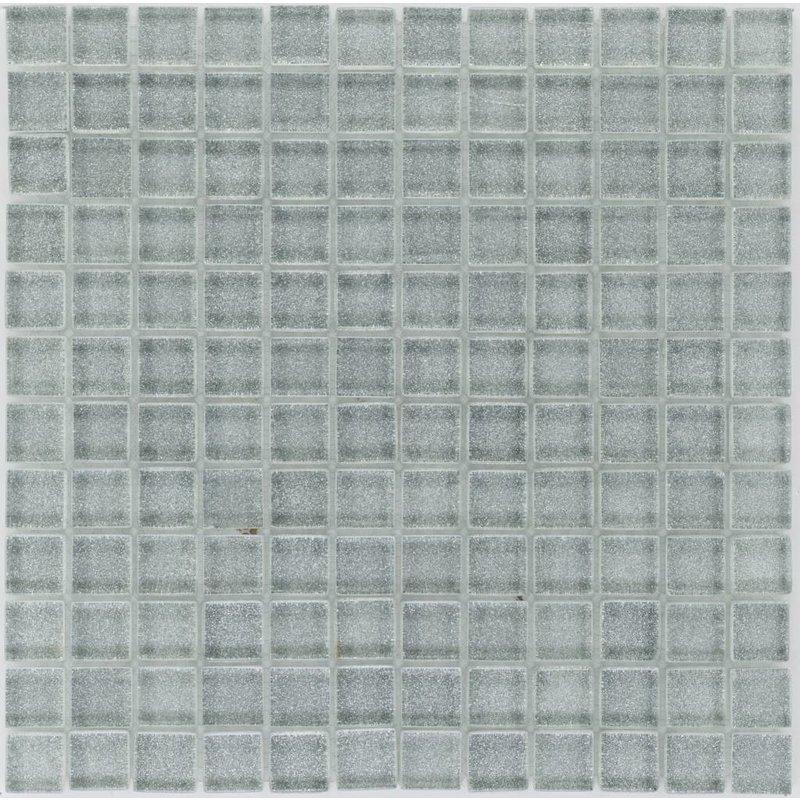 Glasmosaik Silber metallic- 30cm x 30cm