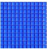 Glasmosaik Blau, glänzend - 30cm x 30cm