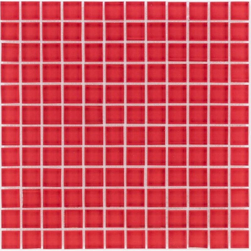 Glasmosaik Rot, glänzend - 30cm x 30cm