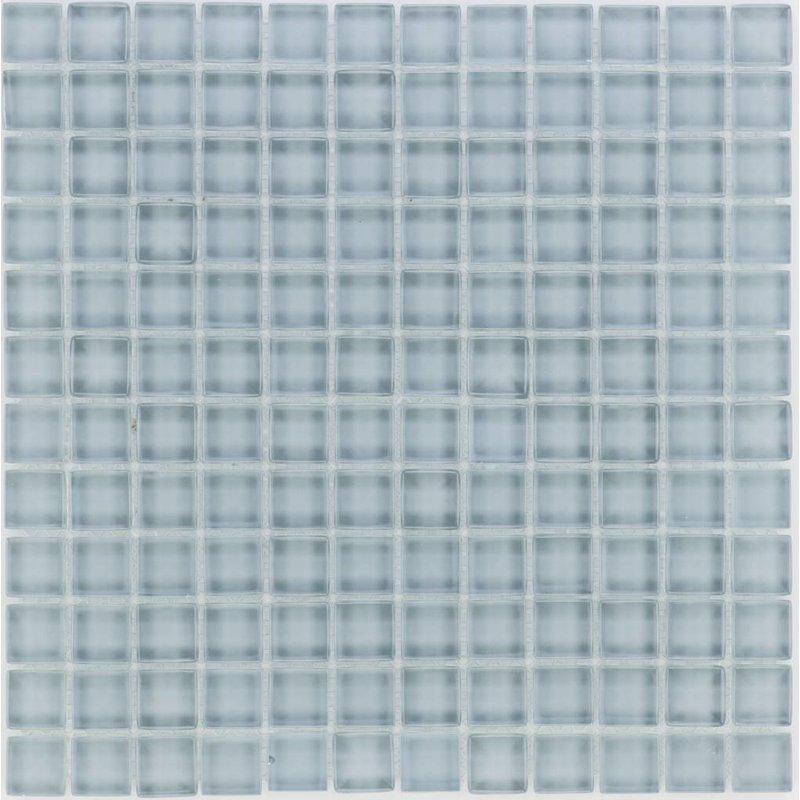 Glasmosaik Grau, glänzend - 30cm x 30cm
