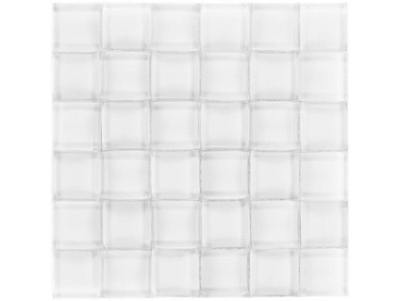Glasmosaik 3D White - 26cm x 26cm