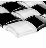 Glasmosaik 3D Black & White - 26cm x 26cm