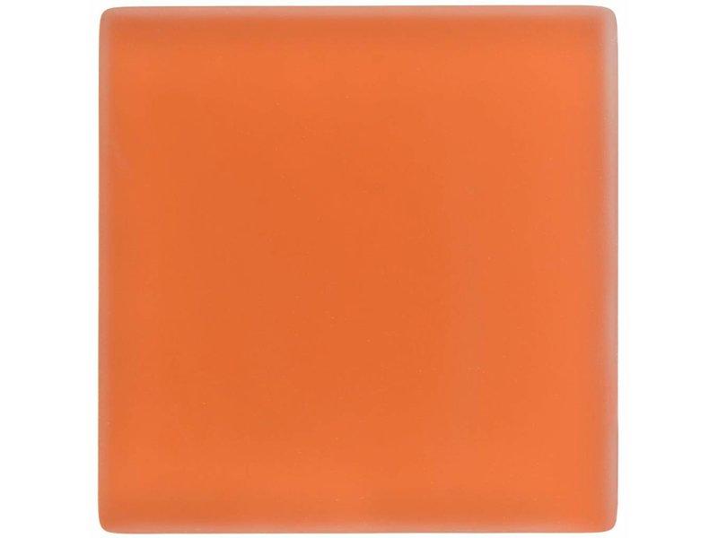 Glasmosaik Orange, glänzend  - 10 cm x 10 cm