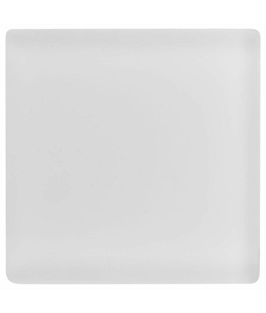 Glasmosaik Weiß, glänzend  - 10 cm x 10 cm