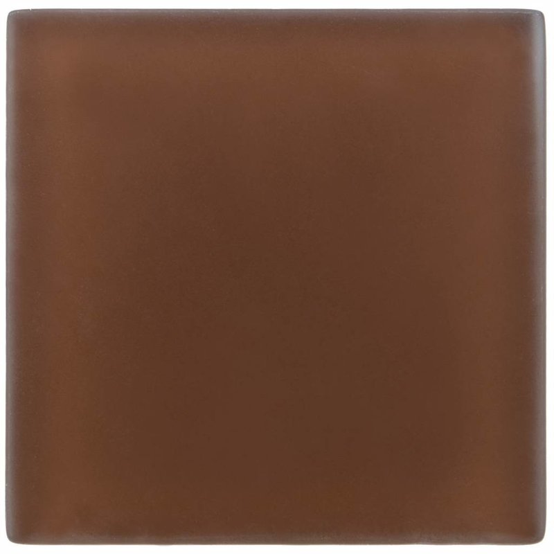 Glasmosaik Dunkelbraun, glänzend - 10 cm x 10 cm