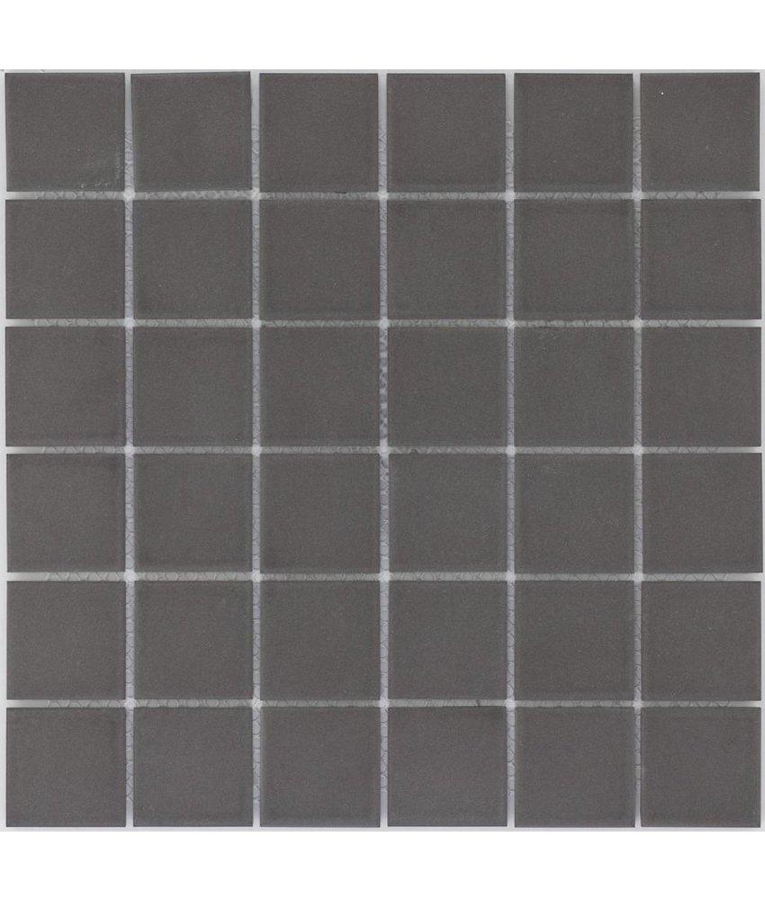 Feinsteinzeugmosaik Schwarz - 30 cm x 30 cm