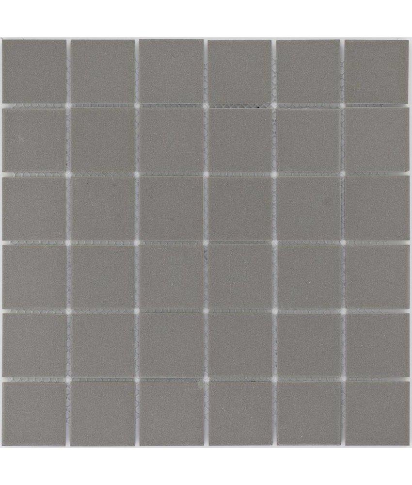 Feinsteinzeugmosaik Dunkelgrau - 30 cm x 30 cm