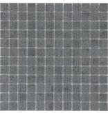 Feinsteinzeugmosaik Dunkelgrau Mix - 33 cm x 33 cm