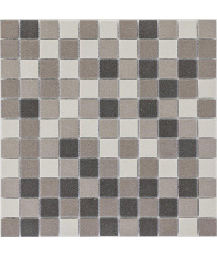 Feinsteinzeugmosaik Braun Beige - 30 cm x 30 cm