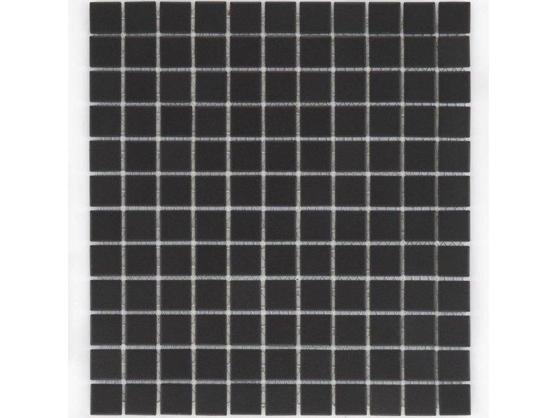 Feinsteinzeugmosaik Schwarz- 32,7 cm x 30 cm