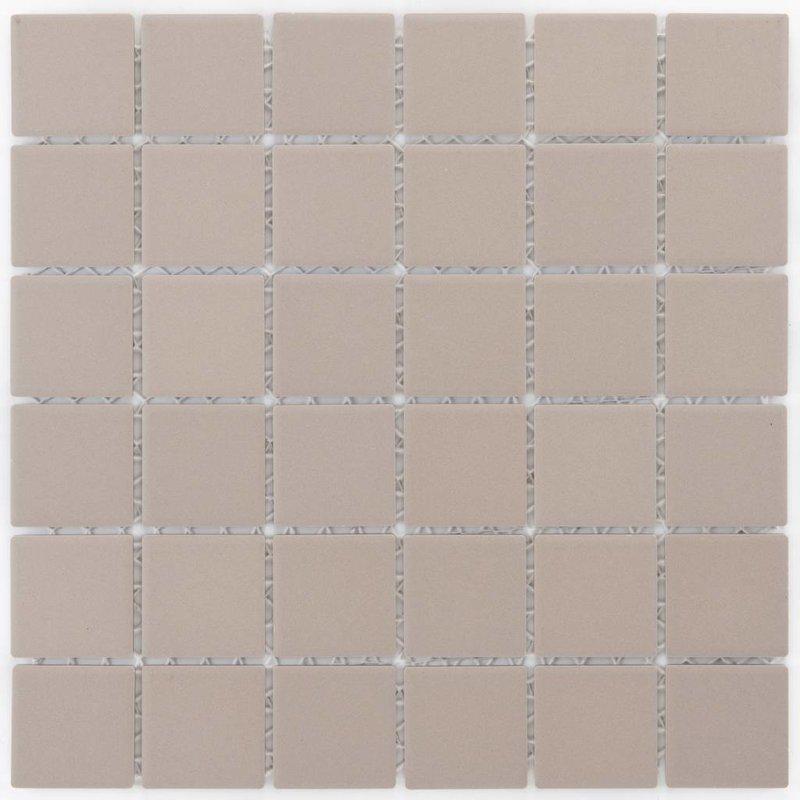 Feinsteinzeugmosaik Grau-Beige - 29,1 cm x 29,1 cm