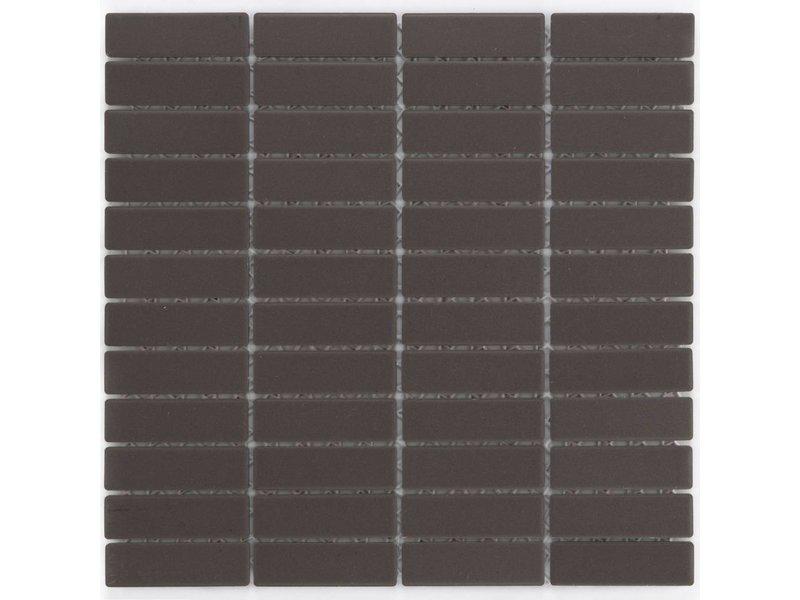 Feinsteinzeugmosaik Dunkelbraun - 28,6 cm x 29,5 cm