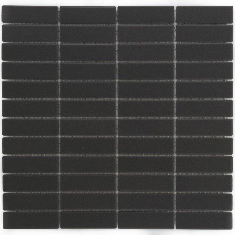 Feinsteinzeugmosaik Schwarz - 28,6 cm x 29,5 cm