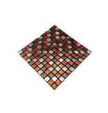 GLASMOSAIK FLIESEN - silber / braun / rot - GM2300