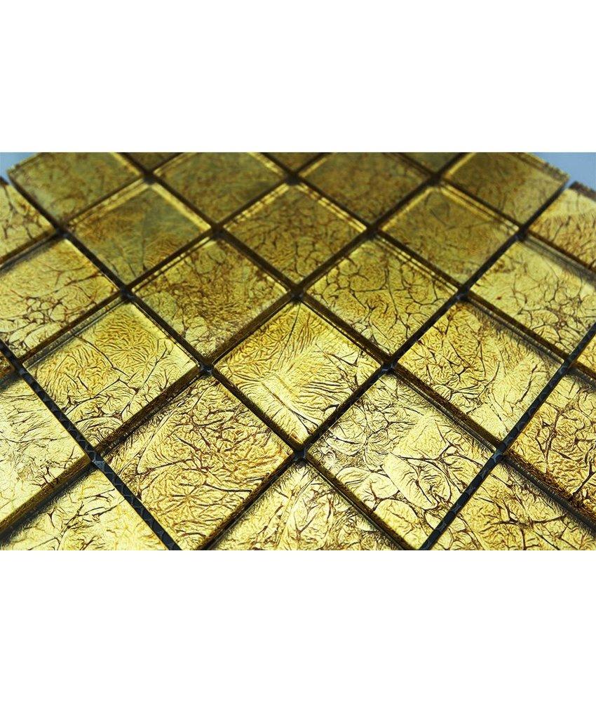 GLASMOSAIK FLIESEN - gold - GM4837