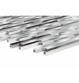 Mosaikfliese Metall Aluminium Black Grey Silver - 30 cm x 40 cm