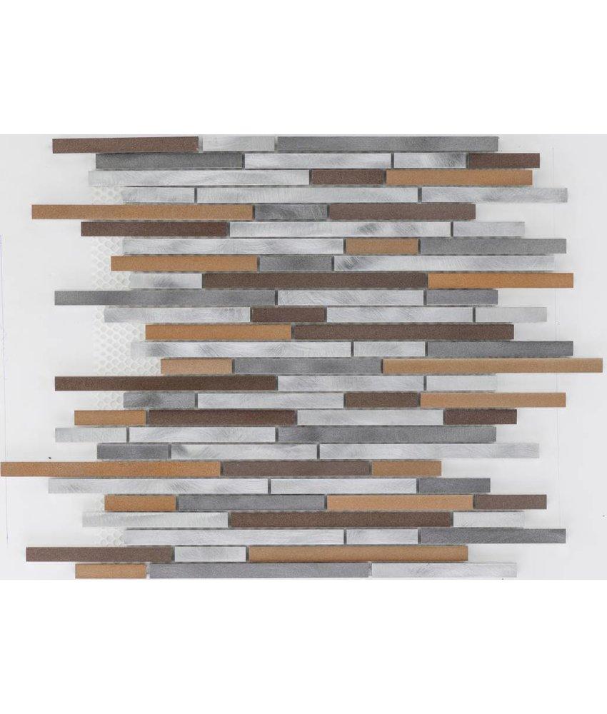 Mosaikfliese Metall Aluminium Multicolor - 30 cm x 30 cm