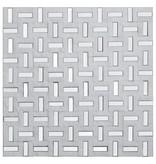 Mosaik Marmor & Alu Greek White 30 cm x 30 cm