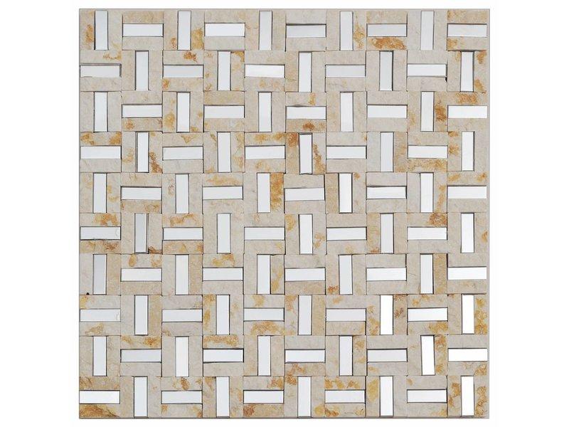 Mosaik Marmor & Alu Beige 30 cm x 30 cm