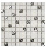 Mosaik Marmor Roma Silver - 30 cm x 30 cm