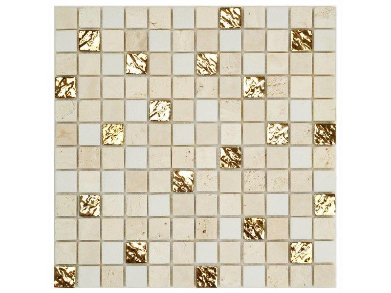 Mosaik Marmor Roma Gold - 30 cm x 30 cm