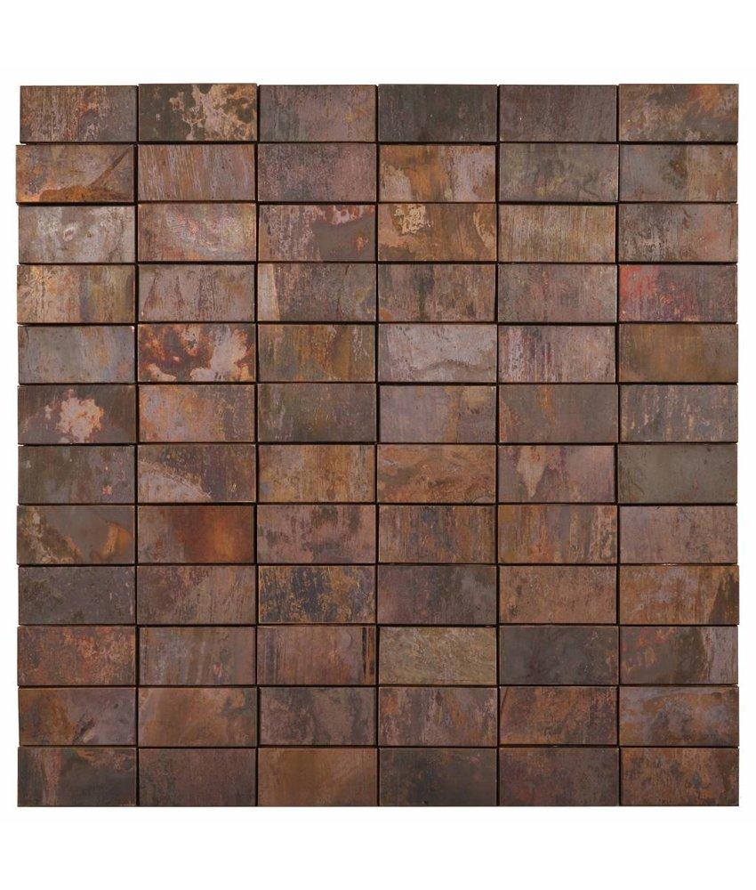 Mosaik Metall Kupfer 3D - 30 cm x 30 cm
