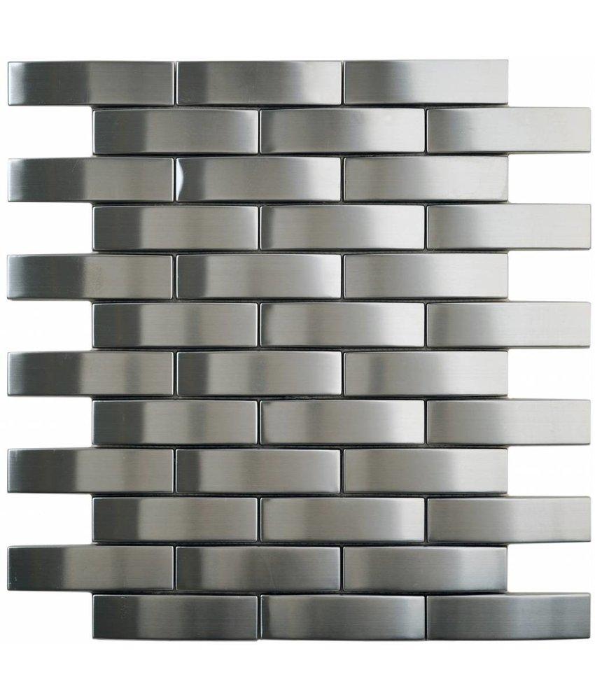 Mosaik Metall Edelstahl - 30 cm x 28,2 cm