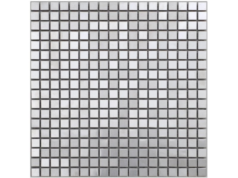 Mosaik Metall Edelstahl, quadratisch - 30 cm x 30 cm