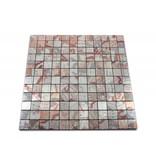 SELBSTKLEBENDE MOSAIKFLIESEN - Magellan - braun / silber gemustert