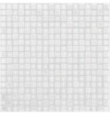 Mosaik Glas & Naturstein Smart White - Selbstklebend - 30 cm x 30 cm