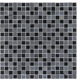 Mosaik Glas & Marmor Black - 30 cm x 30 cm