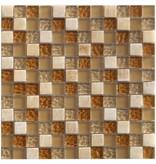Mosaik Glas & Marmor Lanzarote Beige Perlmutt - 30 cm x 30 cm