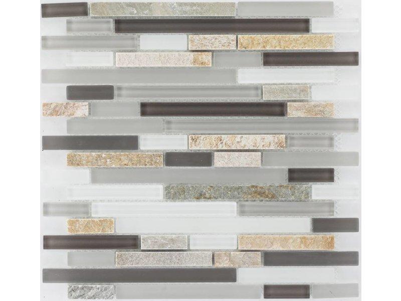 ... Mosaik Glas U0026 Marmor Beige Braun Grau Weiß   30 Cm X ...